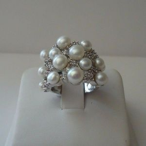 Jewelry - NWT 925 Sterling Silver and Accented Pearl Ring